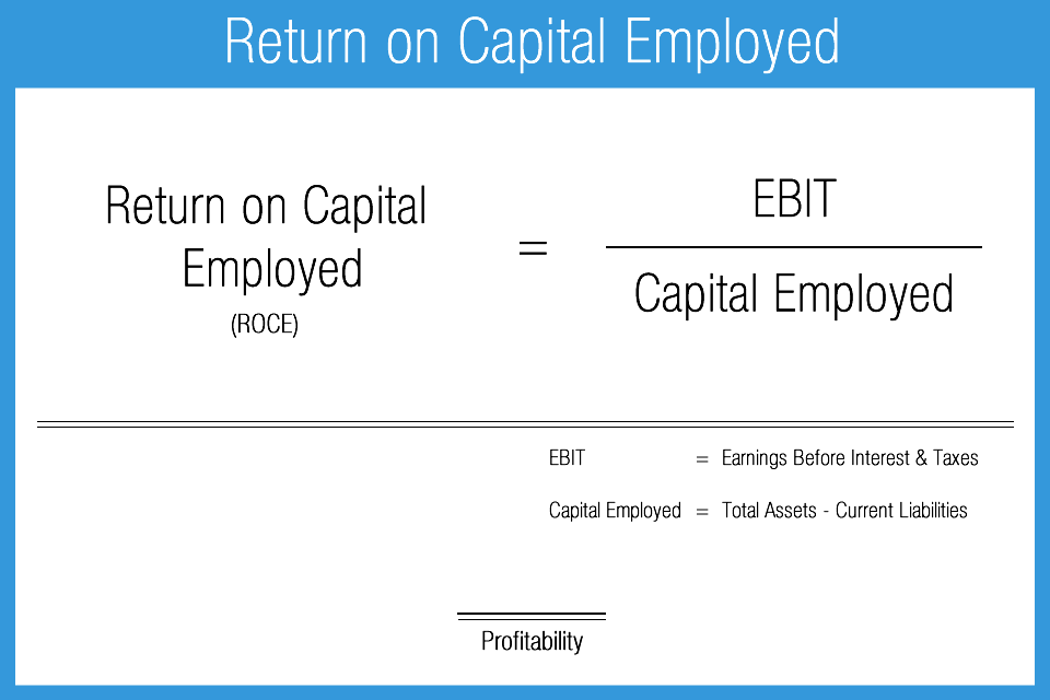 ROCE (Return on Capital Employed) Definition. ROCE stands for Return on Capital Employed; it is a financial ratio that determines a company's profitability and the efficiency the capital is applied. A higher ROCE implies a more economical use of capital; the ROCE should be higher than the capital cost.